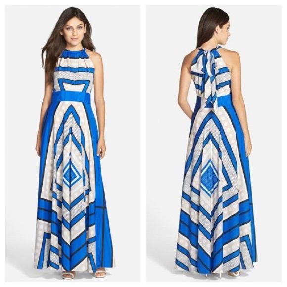 466f2e088a4a0 Eliza J Scarf Print Crepe De Chine Maxi Dress